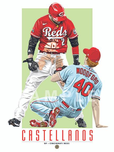 Illustration of Cincinnati's sensation and fan favorite Nick Castellanos!