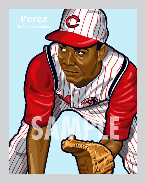 Digital Illustration of one of the All-Time Greats from the Big Red Machine Hall of Famer Tony Perez!