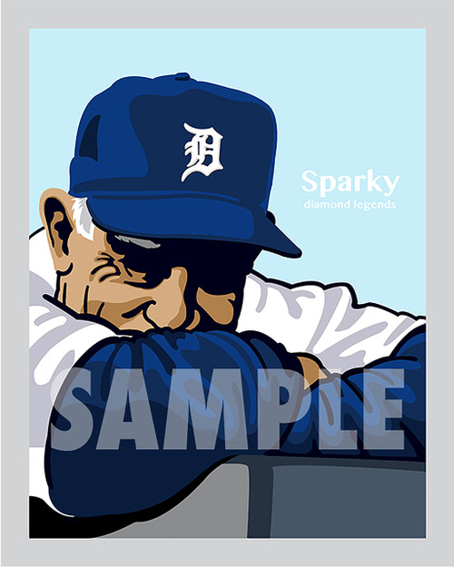 Digital Illustration of one of the All-Time Great Diamond Legends of baseball, Hall of Famer Sparky Anderson!