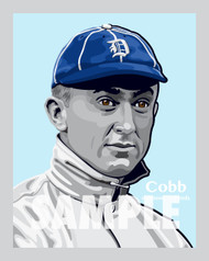 Digital Illustration of one of the All-Time Great Diamond Legends of Baseball and Hall of Famer Ty Cobb!