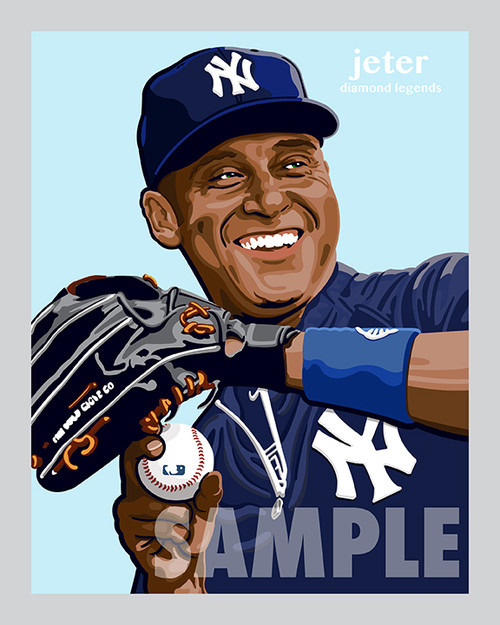 Digital Illustration of one of the All-Time Great Diamond Legends of Baseball Derek Jeter!