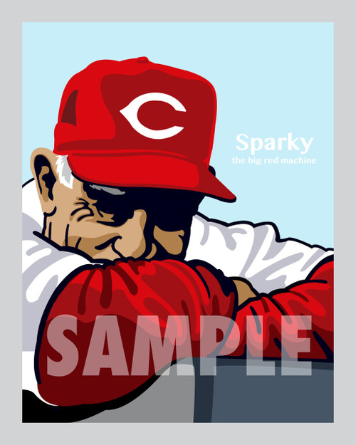 Digital Illustration of Sparky Anderson - one of the All-Time Greats from the Big Red Machine!