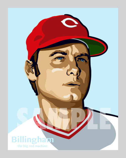 Digital Illustration of Jack Billingham - one of the All-Time Greats from the Big Red Machine!