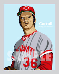 Digital Illustration of Clay Carroll - one of the All-Time Greats from the Big Red Machine!