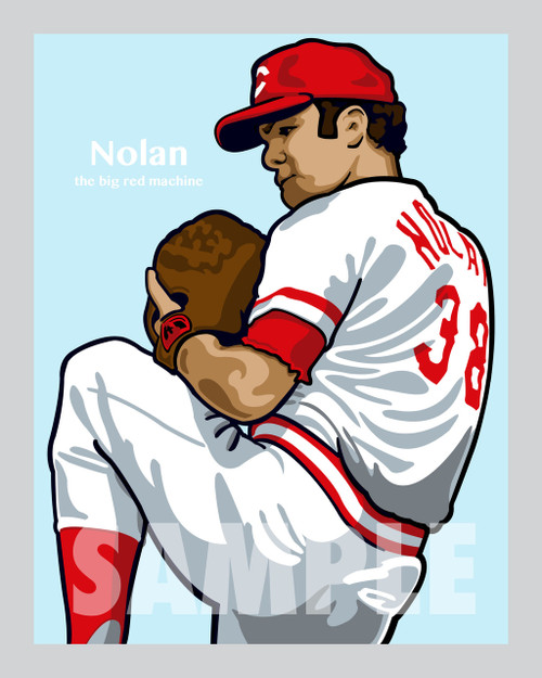 Digital Illustration of Gary Nolan - one of the All-Time Greats from the Big Red Machine!
