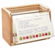 Maple and Acrylic Recipe Boxes