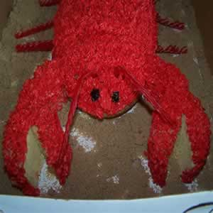 This Is A Lobster Cake Was Made It For My Sister Chelsies Bridal Shower And Actually Practice Cakethe Real One Soon To Be