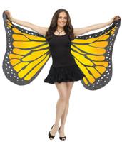 Orange Satin Butterfly Adult Wings