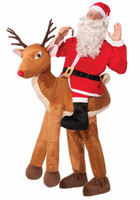 Santa on Reindeer Adult Costume One+AC0-Size