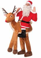 Santa on Reindeer Adult Costume One+AC0-Size