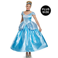 Disney Princess Cinderella Prestige Adult Costume Plus