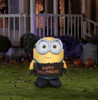 Minion Bob Outdoor 4 Foot Halloween Airblown Decoration