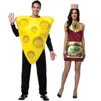 Wine & Cheese Adult Couples Costume