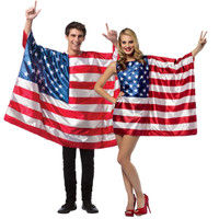 USA Flags Couples Costume For Adults