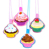 Cupcake Bubble Necklaces Assorted