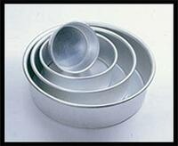 "Round Heavy Gauge Aluminum Pan By Fat Daddio's  3""H X 6"""