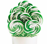 Green and White Whirly Pops