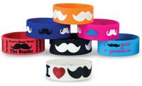 Mustache Rubber Bracelet Asst.
