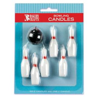 Sports Candle Bowling Ball & Pins