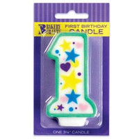 Baby's 1st Birthday Candle 3 1/4""