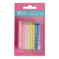 "2.5"" Candy Stripe Candle Asst"