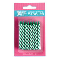 "2.5"" Candy Stripe Candle Green"