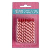 "2.5"" Candy Stripe Candl Red"