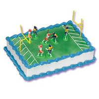 Football Cake Kit with 7 Players & 2 Goal Posts