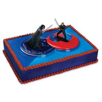 Star Wars Darth & Luke Light Saber Cake Kit