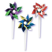 Mini Pinwheel Cupcake Picks Assorted Colors