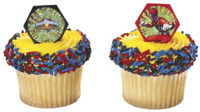 Power Rangers Cupcake Rings