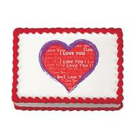 I Love You Heart Edible Image