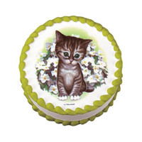 Kitten With Flowers Edible Image®