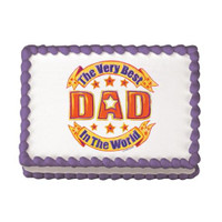 Best Dad In The World Edible Image®