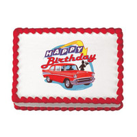 50's Hot Rod Birthday Edible Image®