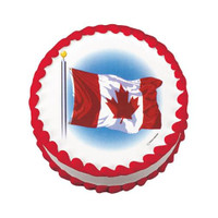 Wavy Canadian Flag Edible Image®