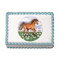 Horse In Field Edible Image®