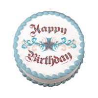 Happy Birthday Tattoo Edible Image®