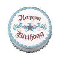 Happy Birthday Tattoo Edible Image®