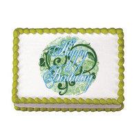 Happy Birthday Swirls Edible Image®