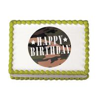 Camouflage Birthday Edible Image®
