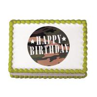 Camouflage Birthday Edible Image®