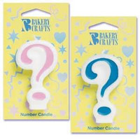 Pink Question Mark Candle