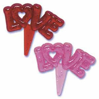 Love Glitter Jewel Cupcake Picks