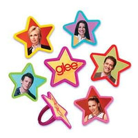 "Glee Rings Assorted Styles  1 1/2"" / 8 Pcs"