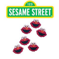 Elmo Sugar Face Icing Decorations