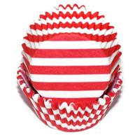 Standard Size Red Stripe Baking Cups