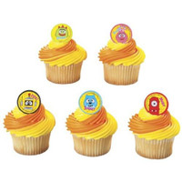 Yo Gabba Gabba Cupcake Rings