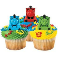Thomas the Train Cupcake Rings