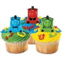 Thomas the Train Cupcake Rings
